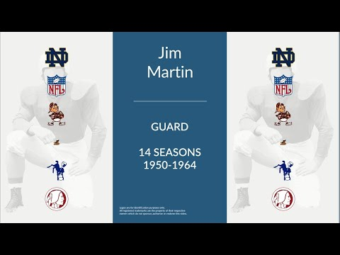 Jim Martin: Football Guard,  Linebacker, and Placekicker