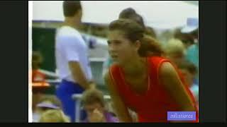 FULL VERSION Seles vs Evert 1989 Virginia Slims of Houston