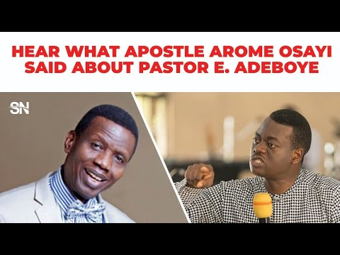 Download HEAR WHAT APOSTLE AROME OSAYI SAID ABOUT PASTOR E.A ADEBOYE 2020