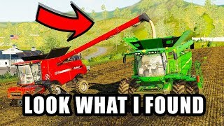 LOOK WHAT I FOUND U CAN UNLOAD INTO A COMBINE FROM A COMBINE   FS19   TIREDBOG