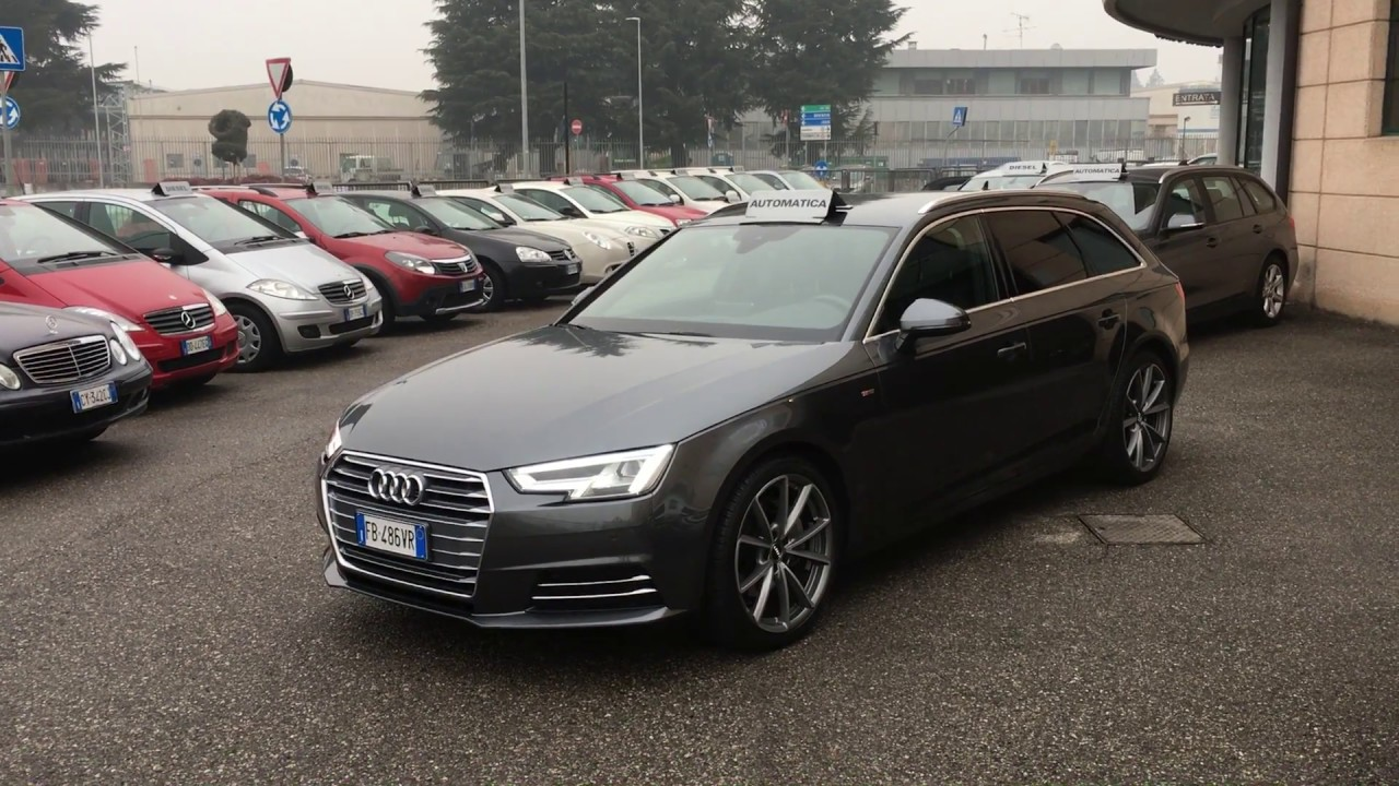 audi a4 avant 2 0 tdi sport s line s tronic 190 hp new model usata in vendita a brescia youtube. Black Bedroom Furniture Sets. Home Design Ideas