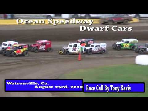 Ocean Speedway August 23rd, 2019 Dwarf Car Highlights