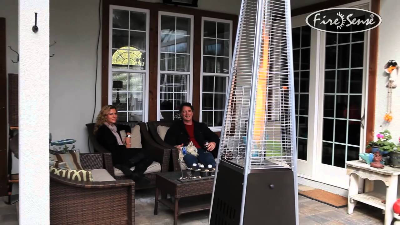 Exceptionnel Mocha Pyramid Flame Patio Heater   YouTube