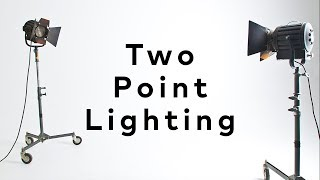 EASY Video LIGHTING with 2 Lights!