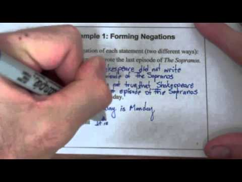 Introduction to Logic: Statements, Negations, and Quantifiers