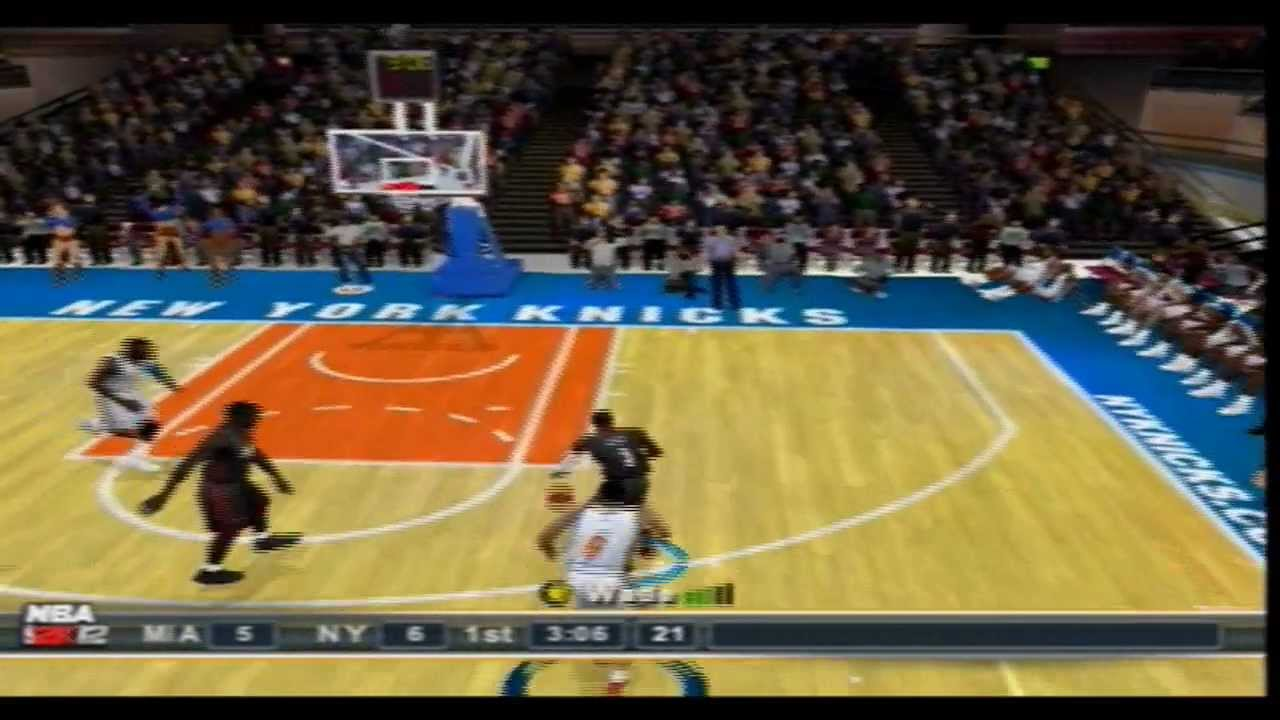 NBA 2k12(PS2) Gameplay Miami Heat vs New York Knicks - YouTube