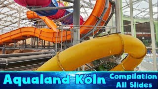 ALL AMAZING WATER SLIDES at Aqualand Köln!! [Compilation]