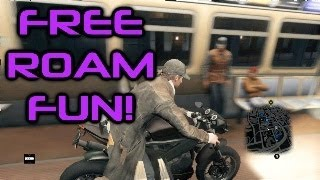 Watch Dogs Free Roam Fun #1: Funny Train Moments & Glitches!
