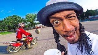 НИГА vs. СНЕЖОК - футбол на мотоциклах