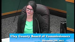B171207A -12/07/17 - Clay County MN Board of Commissioners