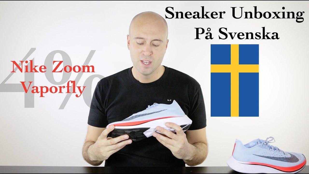 82911be67e7 Sneaker Unboxing På Svenska (Swedish) - Nike Zoom Vaporfly 4% - Mr Stoltz  2017