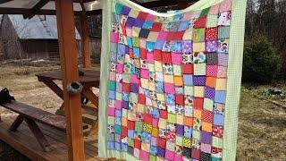 Лоскутное одеяло за два дня. Очень простой способ сборки квадратов.