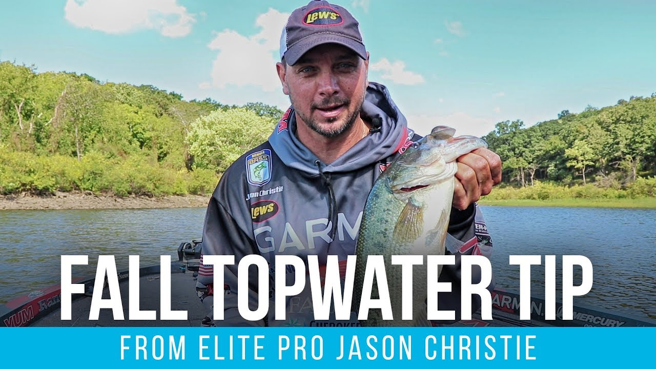 Jason Christie's Fall Topwater Fishing Tip