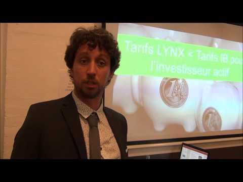 Présentation de LYNX, Broker Futures / Options / Actions, par Brecht HUYS et Maxime SZALAVECZ