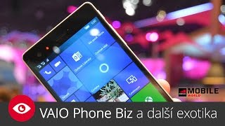 VAIO Phone Biz a další exotika s Windows 10 Mobile (MWC 2016)