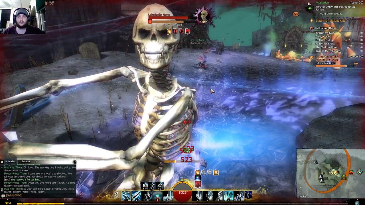 guild wars 2 halloween 2017 - it's a maze of the dead! - YouTube