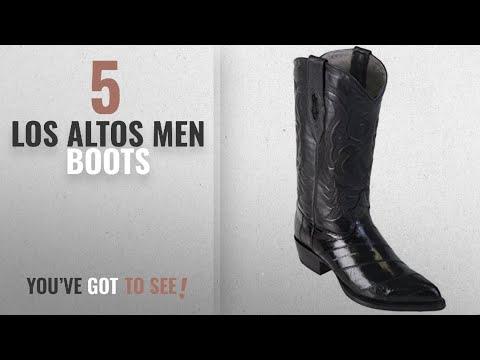 Top 10 Los Altos Men Boots [ Winter 2018 ]: Los Altos Mens Eel Skin J-Toe Boot, Black, Size 11.5 EE