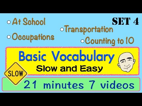 Basic Vocabulary | Slow and Easy | Long Video | Set 4 | English Speaking Practice