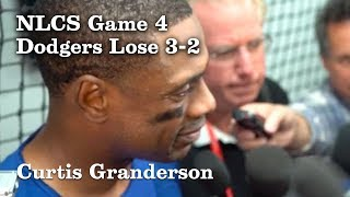 Curtis Granderson on Striking Out Four Times in NLCS Game 4 | Los Angeles Times