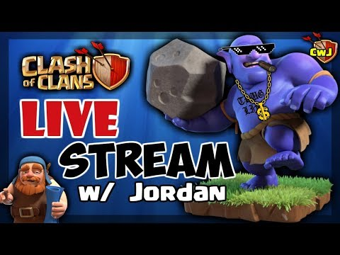 WAR AND FARMING 5 accounts, base reviews, come hang! Clash of Clans Live Stream #19 (Part 2)