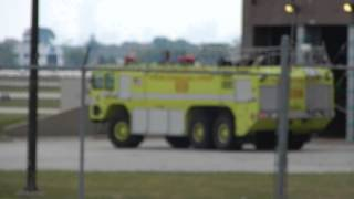 Chicago Fire Department O'Hare Airport Crash Truck 658 Returning