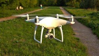 Полет на дроне над Ландшафтным парком Митино, Москва (квадрокоптер DJI Phantom 4 от Pauri.ru)