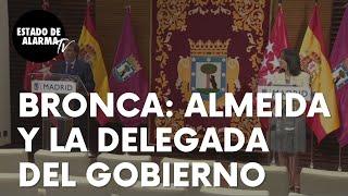 La bronca en público entre el alcalde de Madrid, Martínez-Almeida, y la delegada del Gobierno
