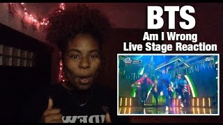 bts am i wrong live stage reaction