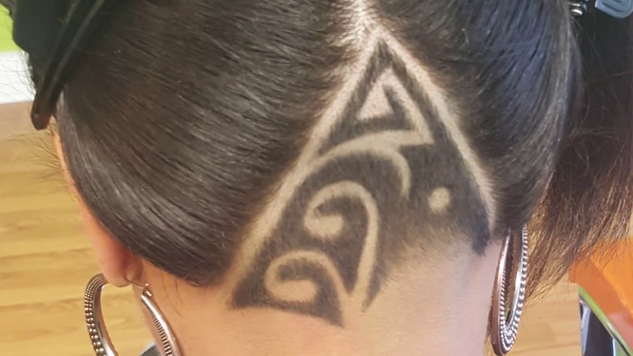 How To Do A Woman S Undercut And Design Youtube