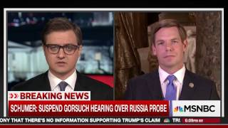 Rep. Swalwell on MSNBC's All In with Chris Hayes discussing hearing on Trump-Russia ties