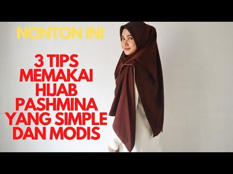 Tutorial Memakai Hijab Pashmina Yang Simple Dan Modis Youtube