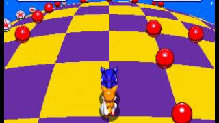 Sonic the Hedgehog 3 - Sega Genesis - seventh emerald and a perfect (all rings collected) - User video