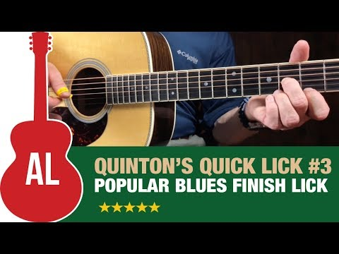 Quinton's Quick Lick (#3) - Popular Blues Finish Lick