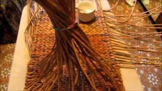 Плетение большого сундука из газетных трубочек. урок 4  Переход между донышком и стенками