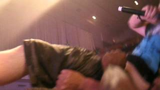 """""""In my city"""" Andy Mineo DOPEST STAGE DIVE EVERRR!!! #Legacy2012"""