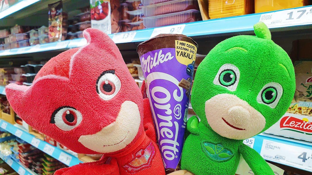 Pijamaskeliler A101 Market Alışverişi Hüpper Dondurma Meyveli Süt Alıyor