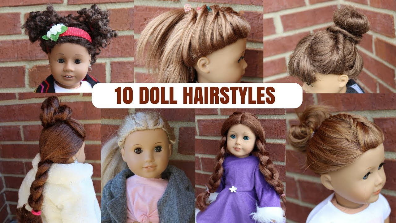 10 CUTE AND EASY DOLL HAIRSTYLES | MyLemonDiy - YouTube
