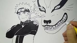 Cara Menggambar Naruto Dan Kurama Dengan Cepat Dan Mudah Youtube
