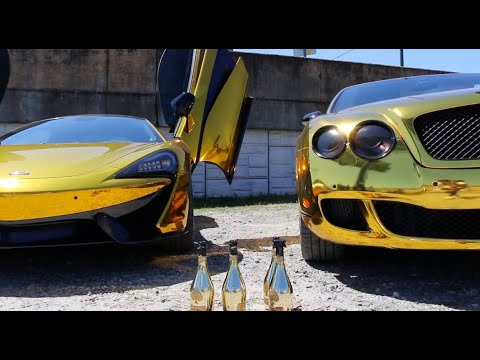 """GUAPAMOLE"" Behind The Scenes Ft. GOLD Bentley GOLD Mclaren & LAMBO"
