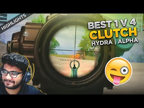H¥DRA | ALPHA BEST 1V4 CLUTCH TILL DATE! 😂|| FUNNY PUBG MOBILE HIGHLIGHT!
