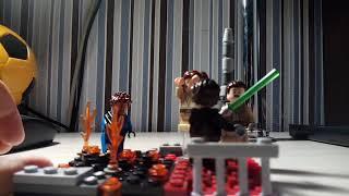 Лего самоделка по ЗВ под названием ''Битва за храм джедаев''