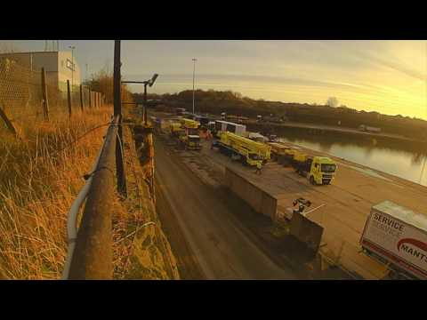 Mantsinen Hydraulic crane build at ABP Garston