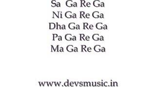 Basic Sargam 4 Hindustani Classical Vocals www.devsmusic.in Devs Music Academy