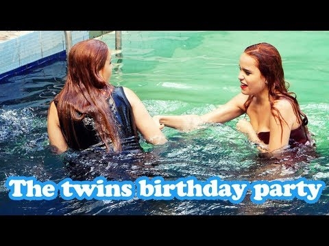 The twins wetlook birthday party