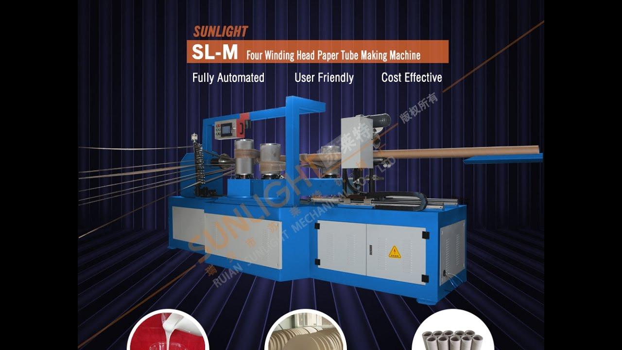 SL-M Four Winding Head Paper Tube Core Winding Machine