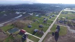 Aerial Shot of Toledo and Oregon, Ohio