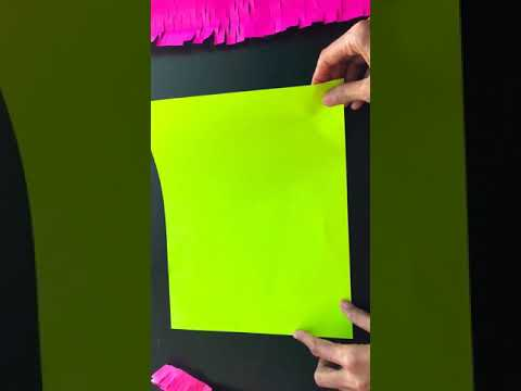 DIY Paper Decoration From A4 Size Sheet | Mesh Paper Streamers