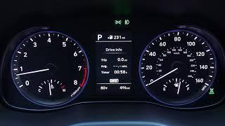 2018 Hyundai Kona interior footage