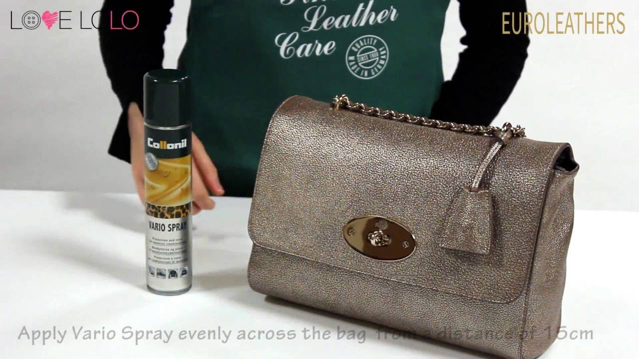 Euroleathers Love Lolo How To Use Collonil Vario Spray Protect Waterproof Leather