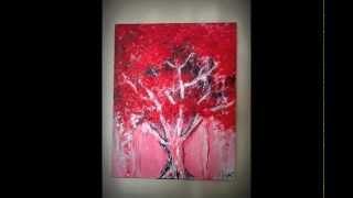 """AUTUMN RED"" - Acrylic on canvas - Artwork by Randy Alcasid"